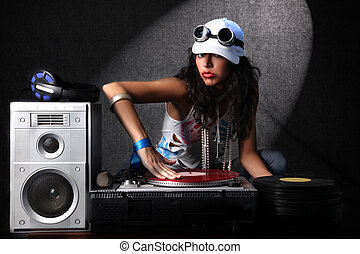 cool DJ in action