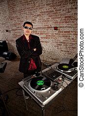 Cool DJ pose