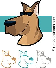 Cool Dog Character Set