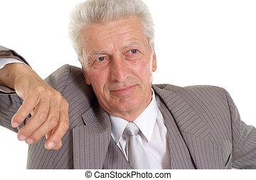 Cool elderly man in suit