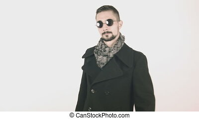 Cool elegant business man with coat
