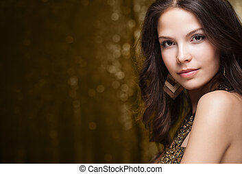 Cool elegant festive woman. - Portrait of a very...