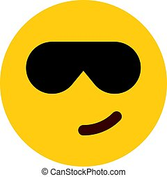 cool emoji with sunglasses