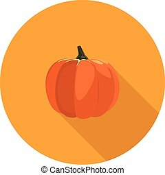flat icon pumpkin