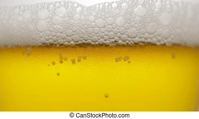 Cool fresh beer with condensation drops. beer in glass