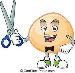 Cool friendly barber brown hoppang cartoon character style
