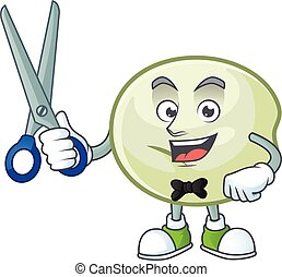 Cool friendly barber green hoppang cartoon character style