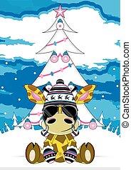Cool Giraffe in Shades