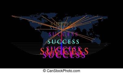 global success concept motion graphics
