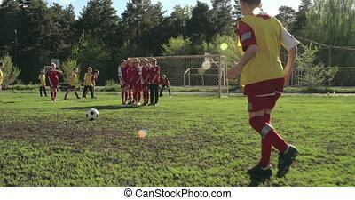 Cool Goalkeeper - Shaky camera of goalkeeper defending the...