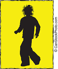Cool Guy Silhouette Vector Clipart
