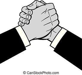 Cool Handshake Illustration