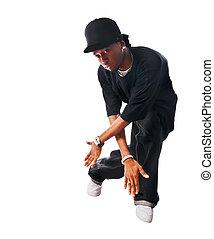 Cool hip-hop young man