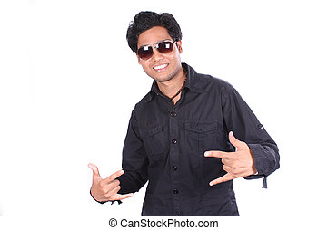 Cool Indian Dude - A portrait of a cool young Indian guy, on...