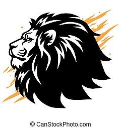Cool Lion Head Logo Vector Mascot Design