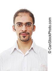 Cool male portrait - Closeup portrait of handsome young...