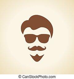 Cool man face illustration