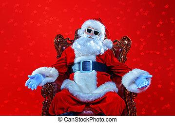 cool modern Santa