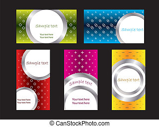 Cool new business card set 3