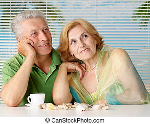 Cool old couple at the resort