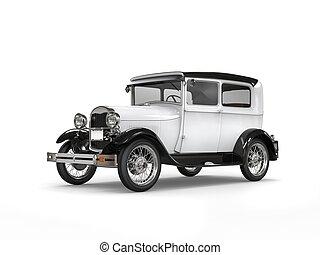 Cool oldtimer white vintage car