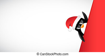 cool penguin with sunglasses merry christmas