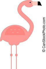 Cool pink decorative flat lovely and beauty flamingo exotic...