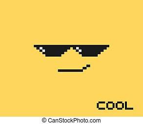 Cool pixel face