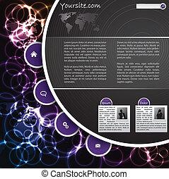 Cool plasma website template design