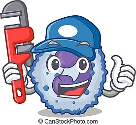 Cool Plumber basophil cell on mascot picture style. Vector ...