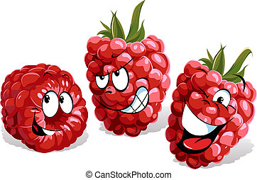 cool raspberry cartoon