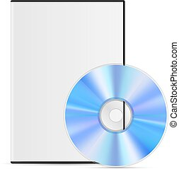 DVD - Cool Realistic white Case for DVD Or CD Disk with Disk...