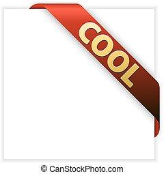 Cool red corner ribbon