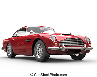 Cool Red Vintage Car