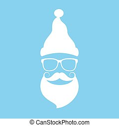 Cool Santa face in hipster style