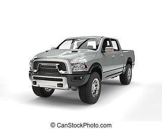 Cool silver modern pick-up truck