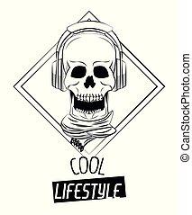 Cool skull print for tshirt