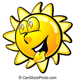Cool smiling summer sun