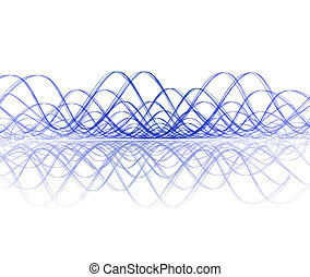 cool soundwave with reflection - cool sound wave with...