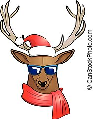cool stag (Christmas edition)