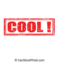 Cool!-stamp - Grunge rubber stamp with word Cool,vector...