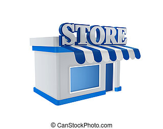 cool store shop isolated on white background