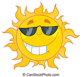 Cool Sun Wearing Shades