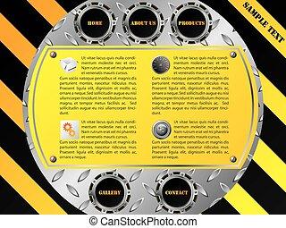 Cool technology website template design