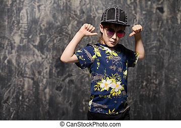 cool trendy boy