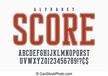 Cool vector retro design of alphabet, typeface