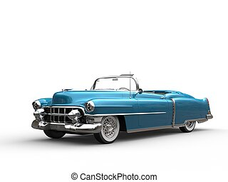 Cool vintage car - metallic blue