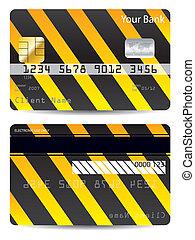 Cool warning credit card design