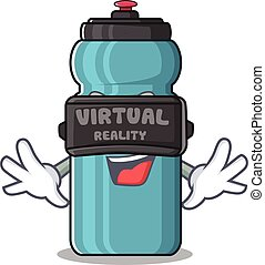 cool water bottle Scroll character using Virtual reality headset