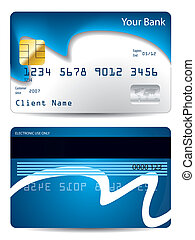 Cool wave credit card design